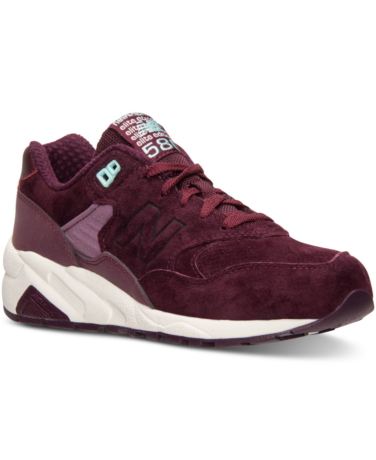 size 40 ac32c 25e3a New Balance Red Women's 580 Meteorite Casual Sneakers From Finish Line