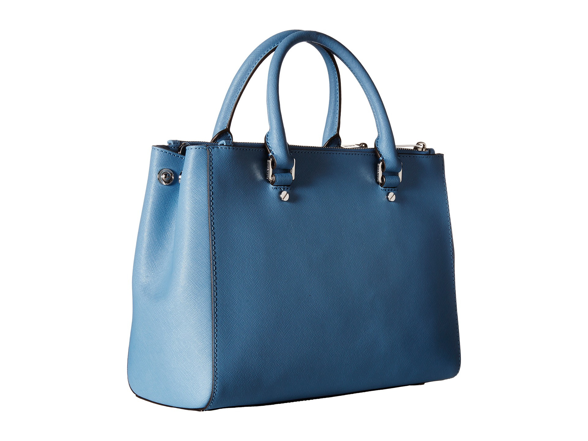Lyst Michael Kors Sutton Medium Satchel In Blue Bag Gallery Previously Sold At Zappos Womens By