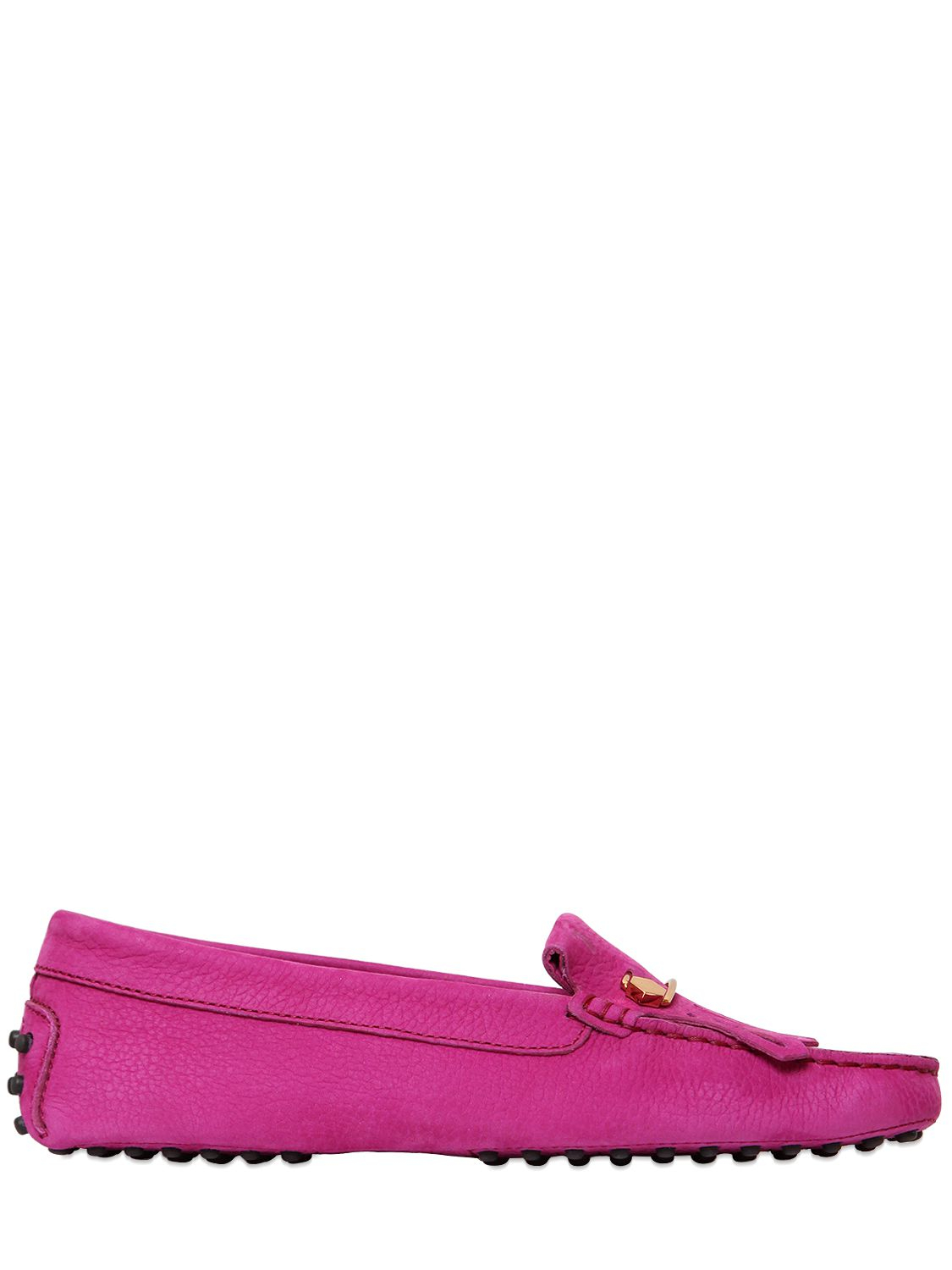 Lyst Tod S Gommino Safety Pin Suede Driving Shoes In Pink For Men