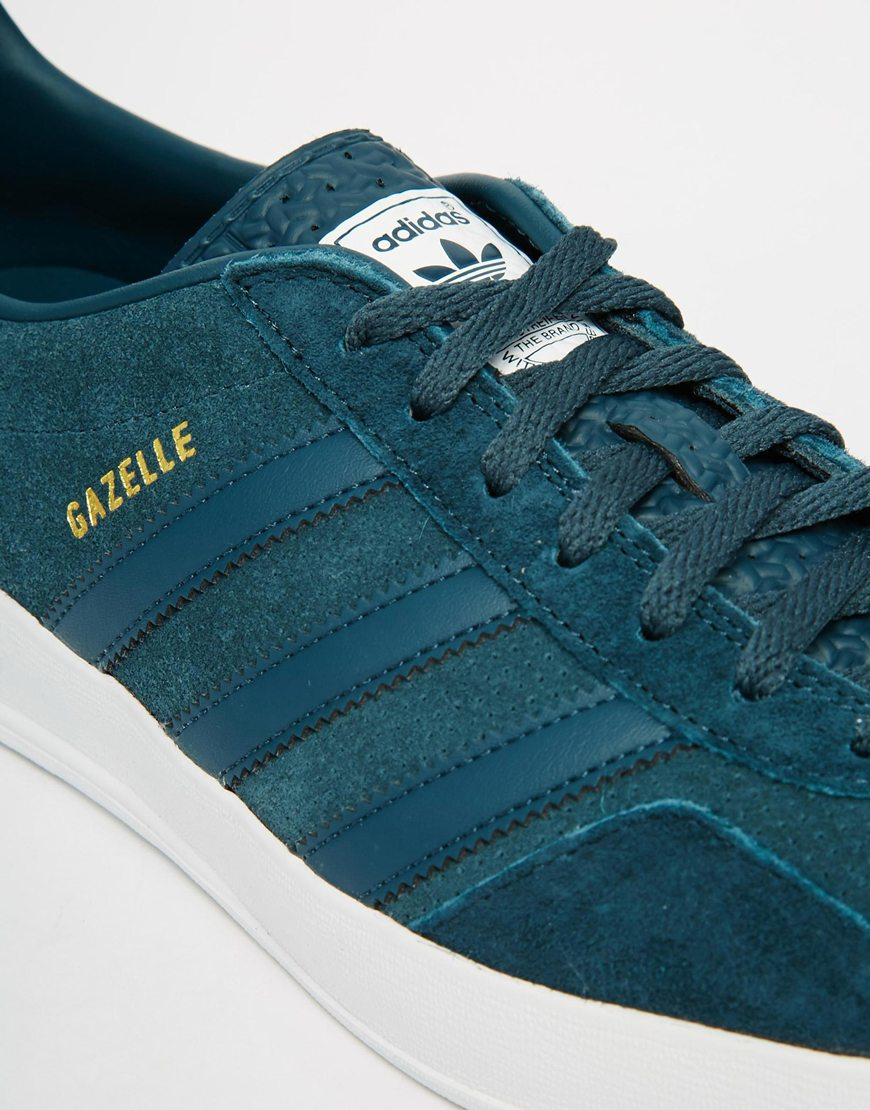 mens adidas blue gazelle indoor trainers
