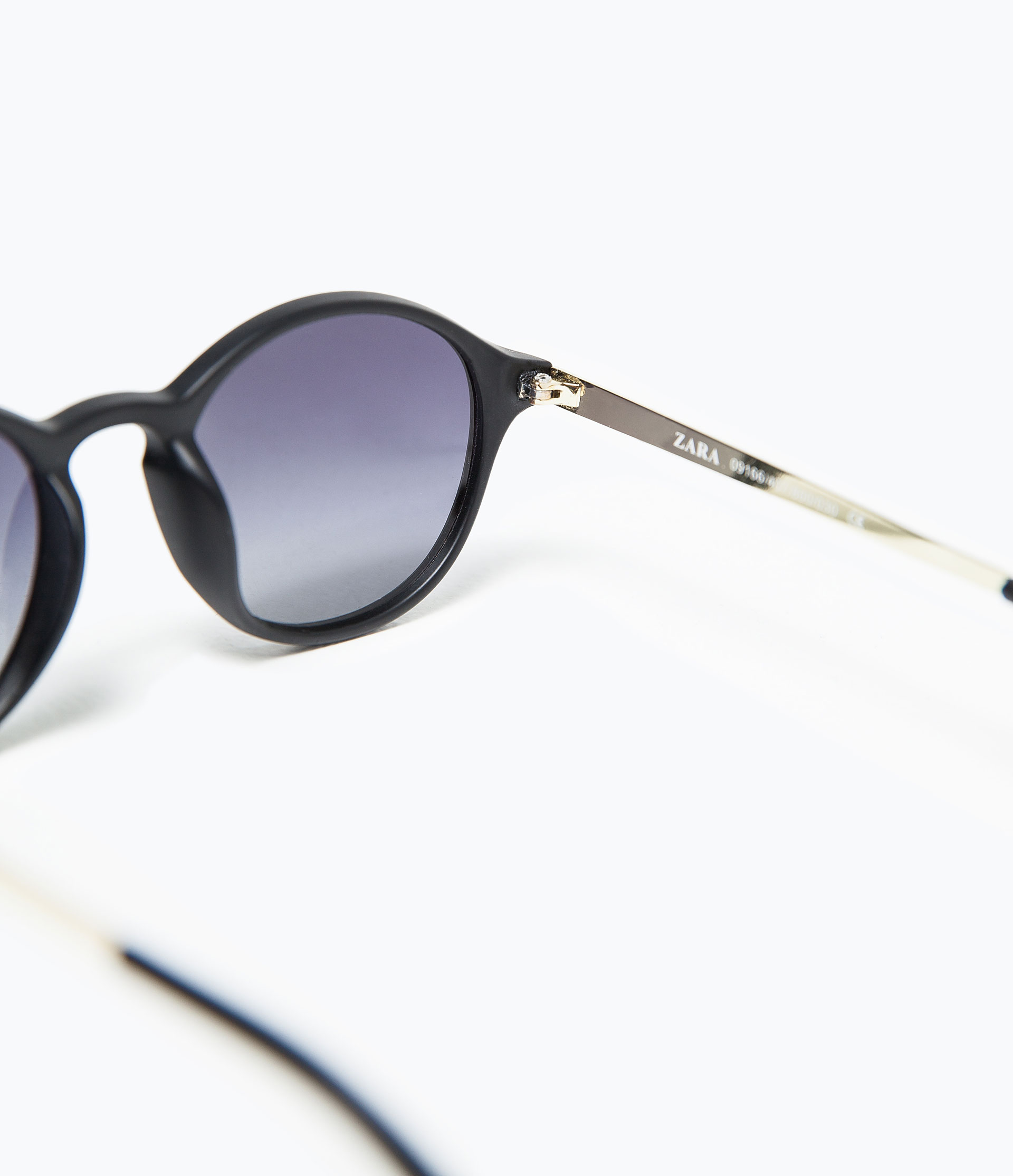 Zara Sunglasses With Gold Arms in Black for Men Lyst