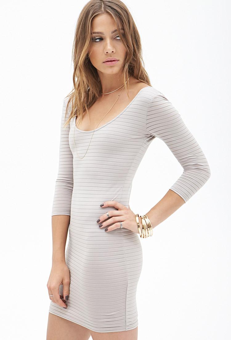 Lyst Forever 21 Striped Mini Dress In Metallic