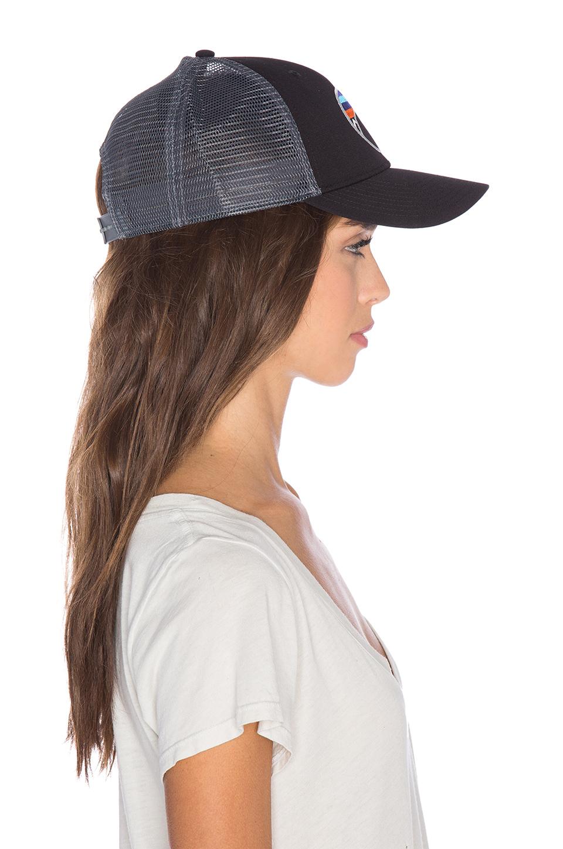 7b3f1499e06 Lyst - Patagonia Fitz Roy Emblem Lopro Trucker Hat in Black