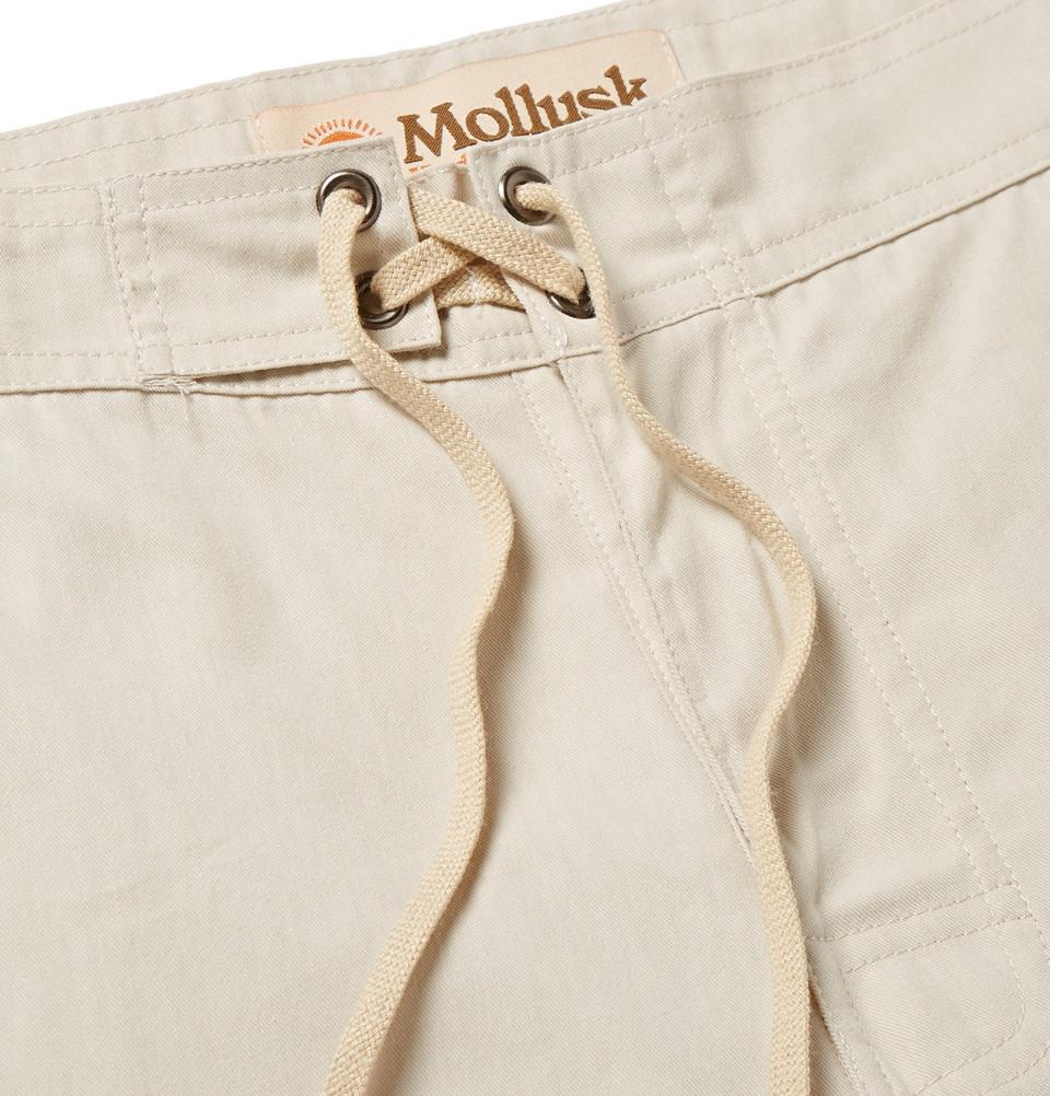 e1e997d2d4 Mollusk Pennant Cotton-Blend Boardshorts in Natural for Men - Lyst
