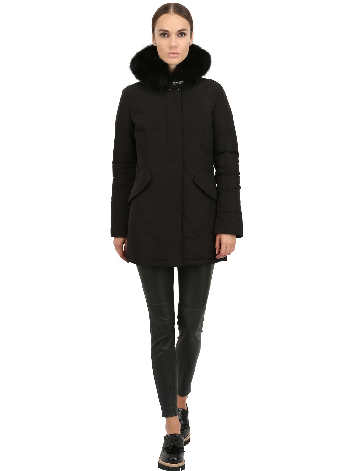 competitive price bb1eb d6045 Woolrich Shape Memory Luxury Arctic Parka in Black - Lyst