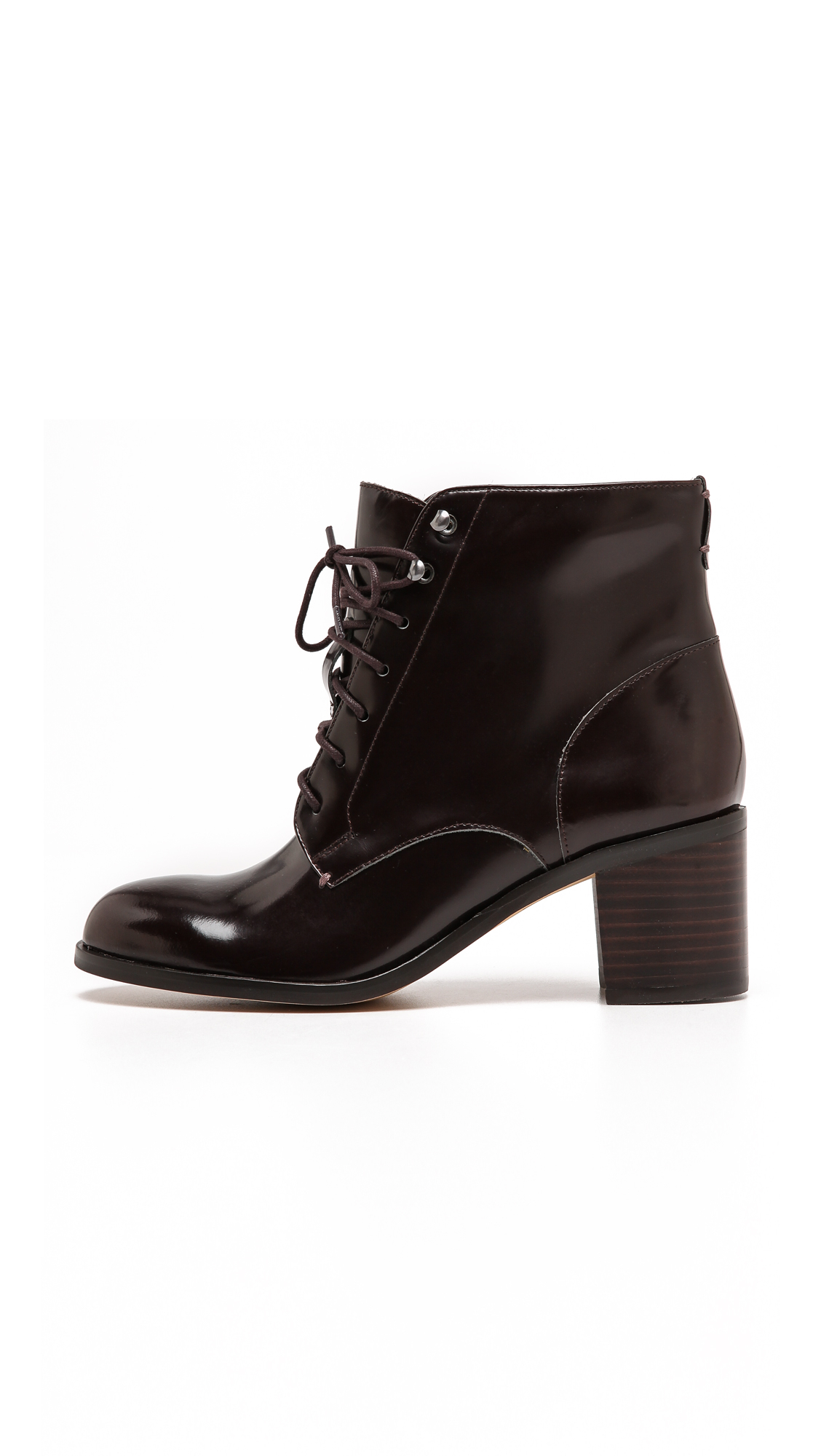 Lyst Sam Edelman Jardin Lace Up Booties Black In Red