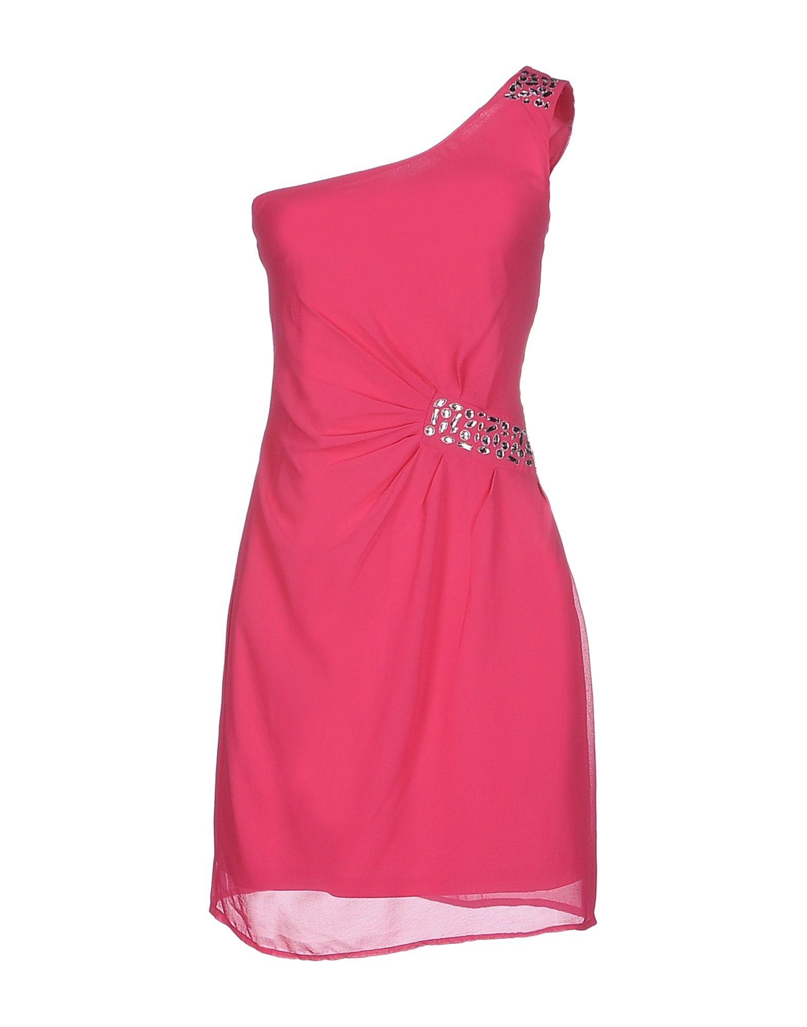 vero moda short dress in pink lyst. Black Bedroom Furniture Sets. Home Design Ideas