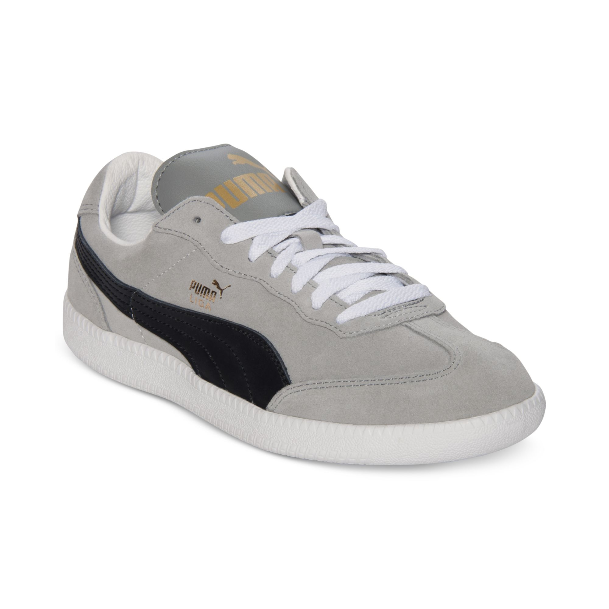 finest selection 13fd6 c1844 PUMA Gray Liga Suede Classic Casual Sneakers for men