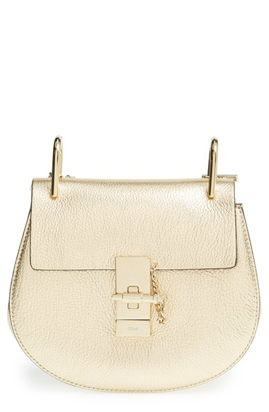 baf8874b62 Chloé 'Mini Drew' Metallic Leather Shoulder Bag - Metallic