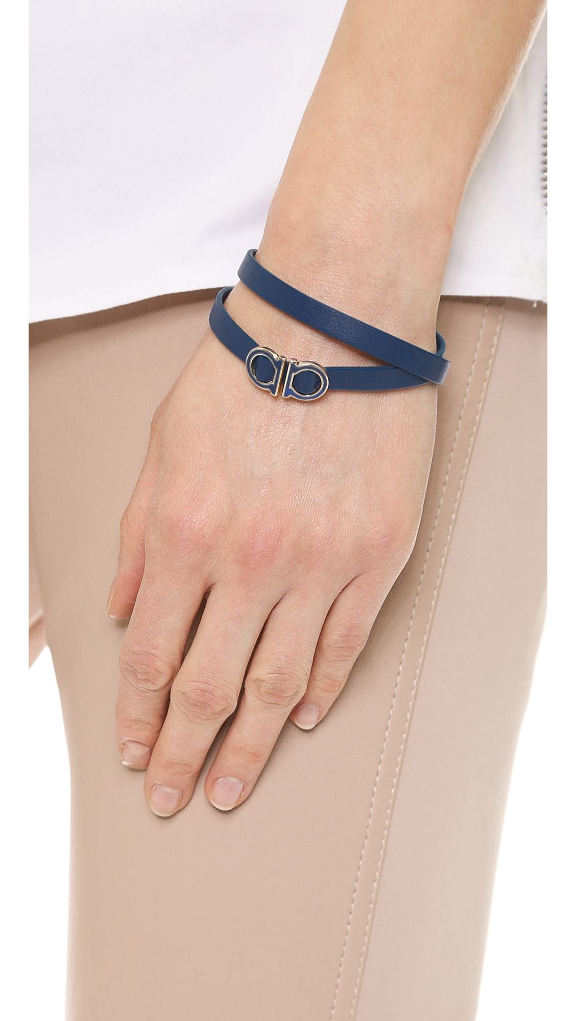 Ferragamo Gancio Double Wrap Bracelet