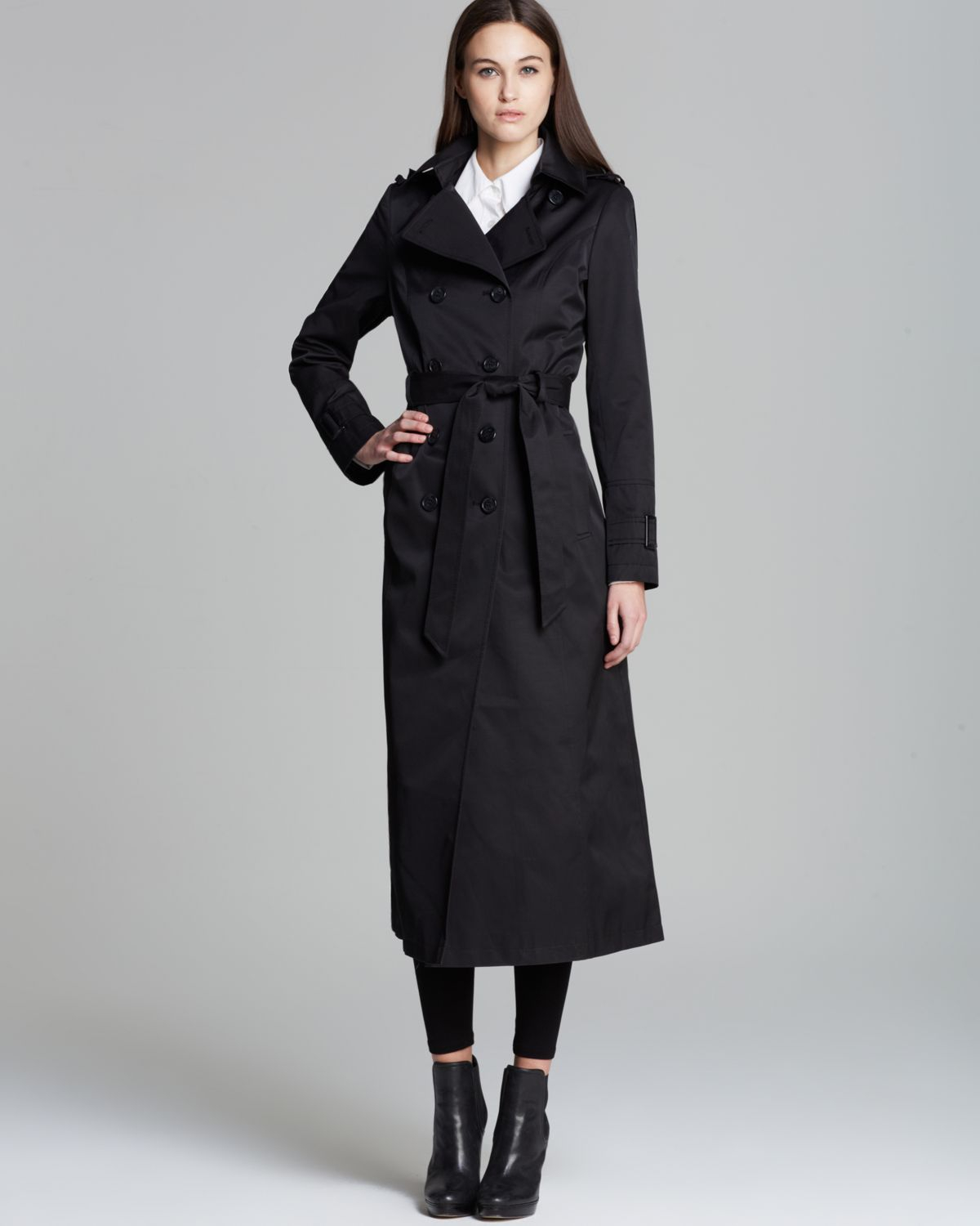 aesthetic appearance new selection hot-selling cheap DKNY Lea Maxi Trench Coat in Black - Lyst