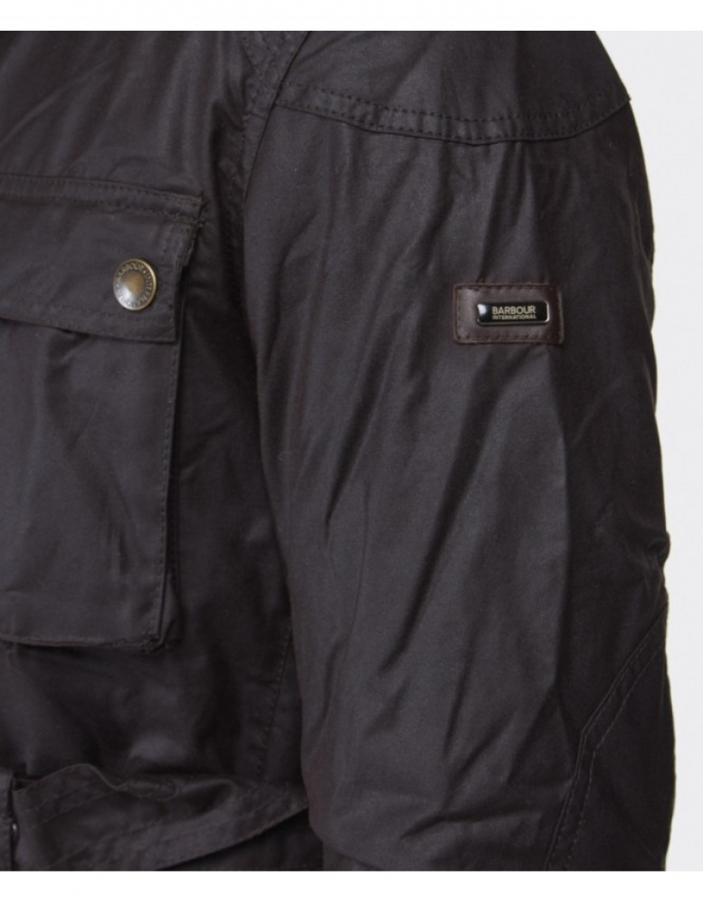 Barbour Blackwell Waxed Jacket In Brown For Men Lyst