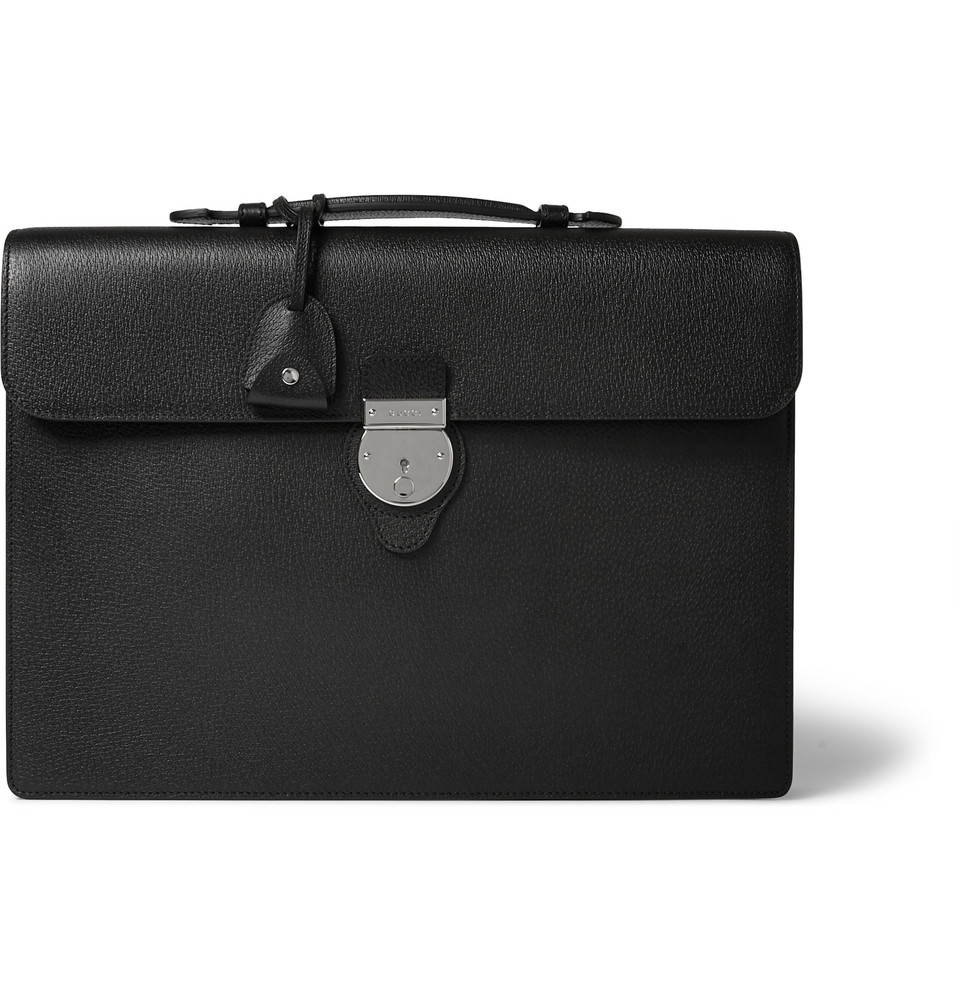 Gucci Leather Briefcase In Black For Men Lyst
