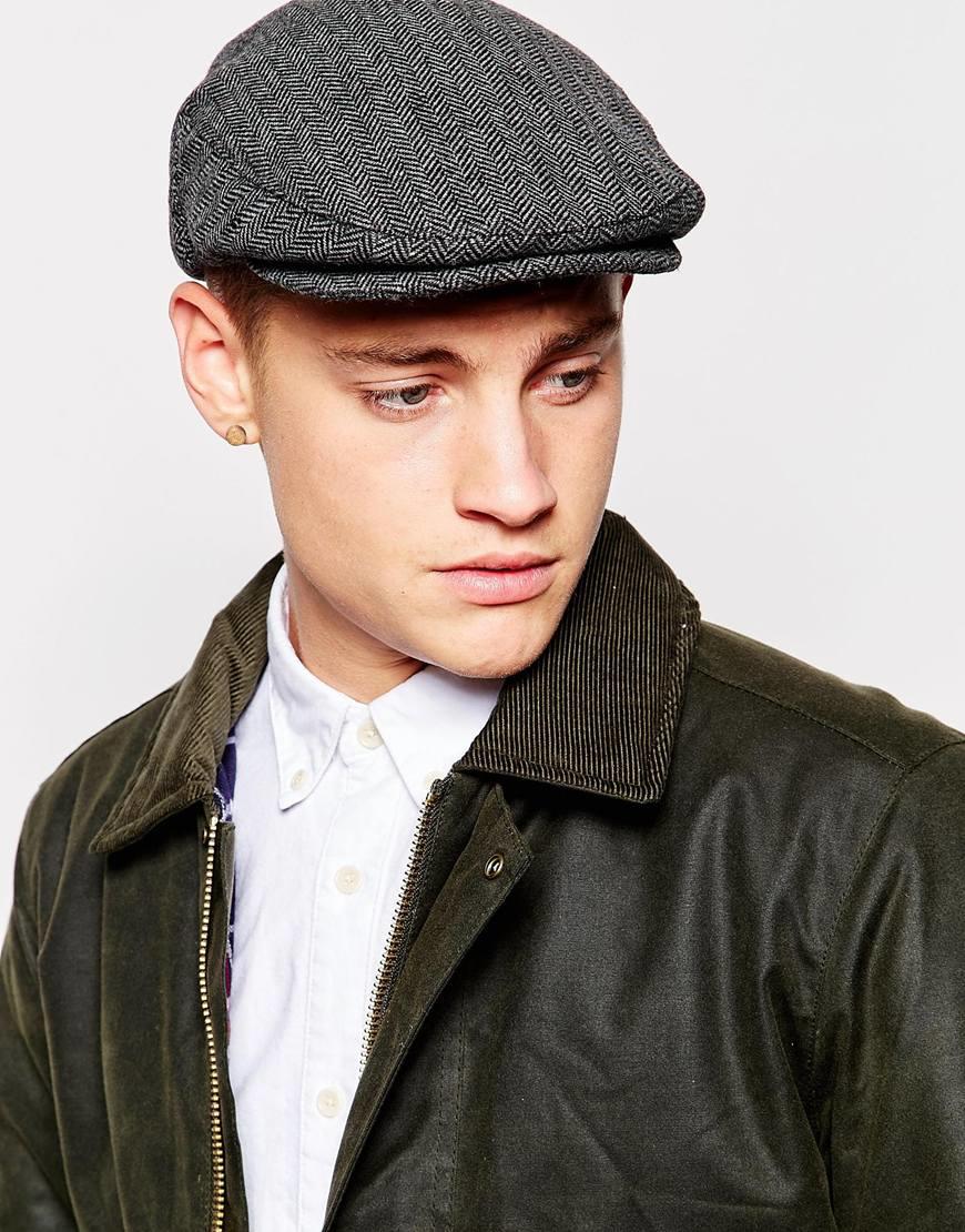 ... shop lyst brixton hooligan flat cap in gray for men 2a5b7 c6419 097cdd055bc