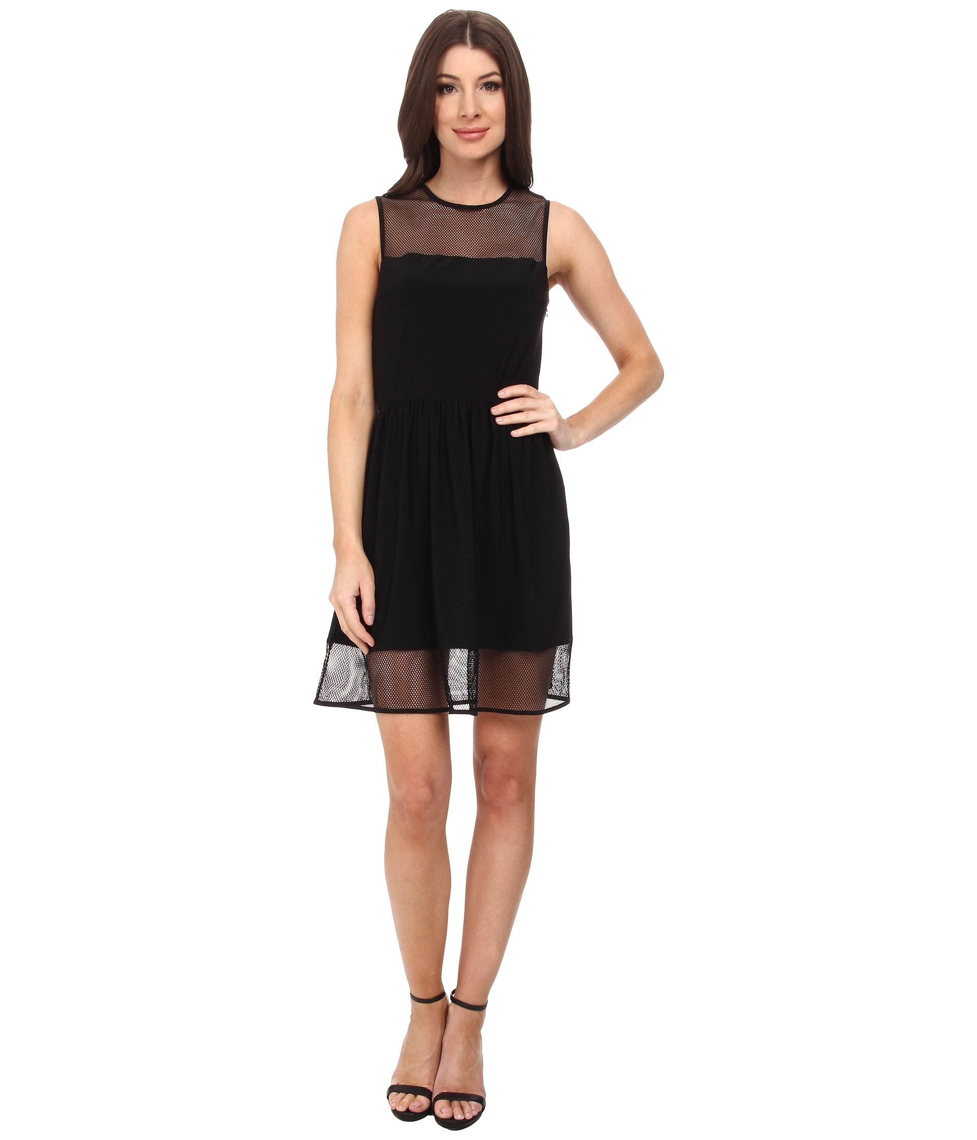 30284b7ca65 Lyst - Susana Monaco Lydia Dress in Black