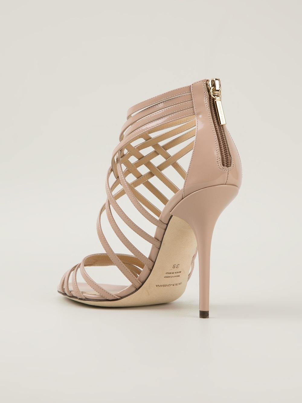 4fce7263ce33 Lyst - Dolce   Gabbana High Heel Sandals in Natural
