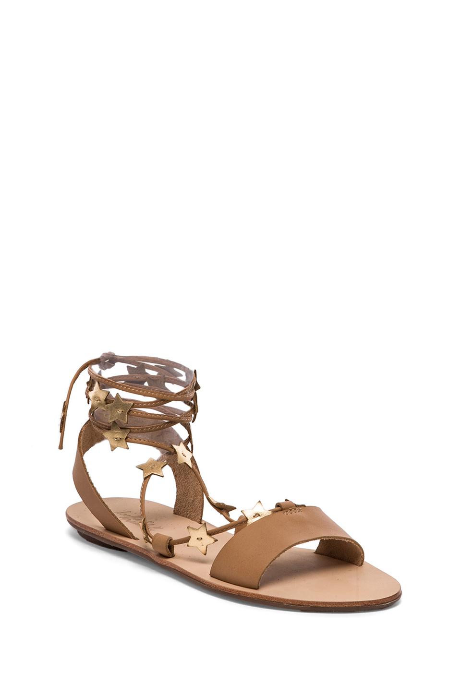 Loeffler Randall Starla Sandal In Brown Buff Amp Gold Lyst