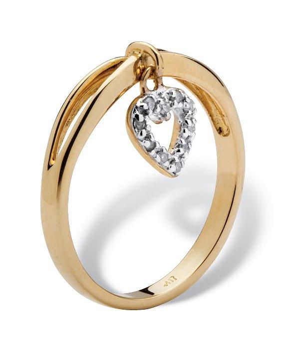 Diamond Heart Promise Ring In K White Gold