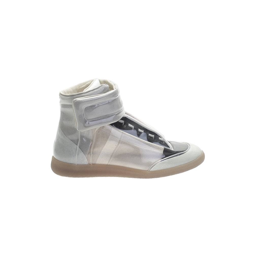 maison margiela future leather high top sneakers in gray for men grey lyst. Black Bedroom Furniture Sets. Home Design Ideas