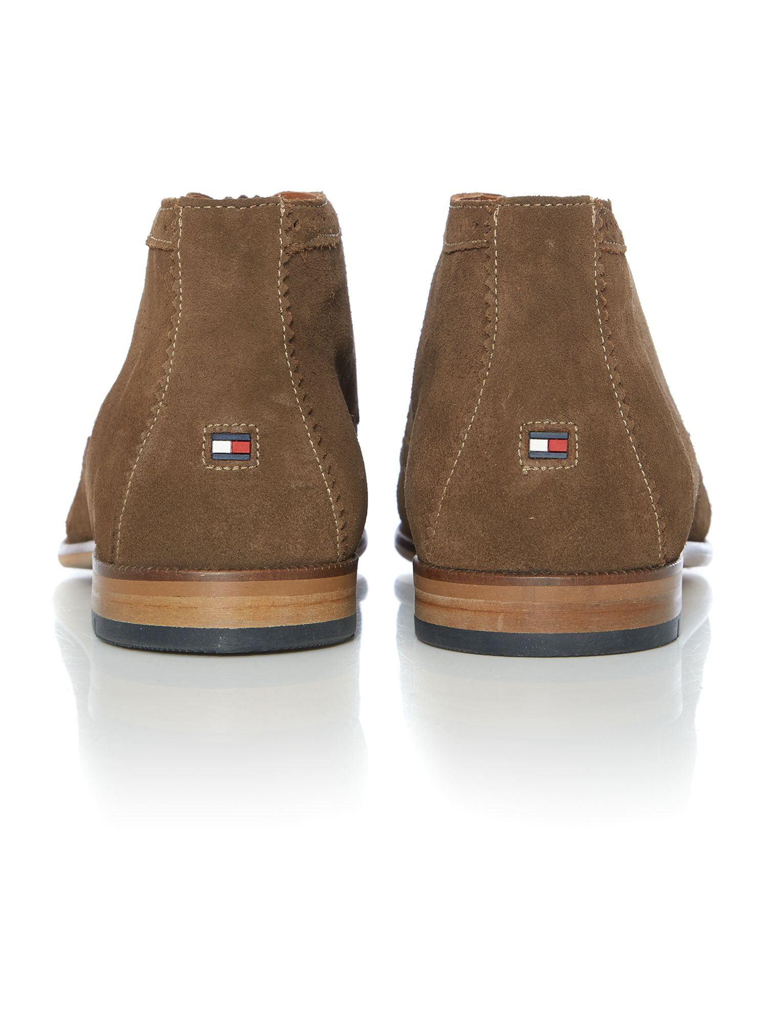 tommy hilfiger colton lace up casual chukka boots in brown. Black Bedroom Furniture Sets. Home Design Ideas