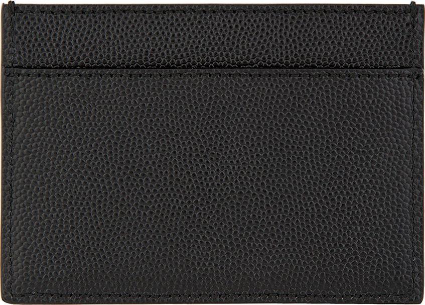 Saint Laurent Black Pebbled Leather Classic Cardholder For Men Lyst
