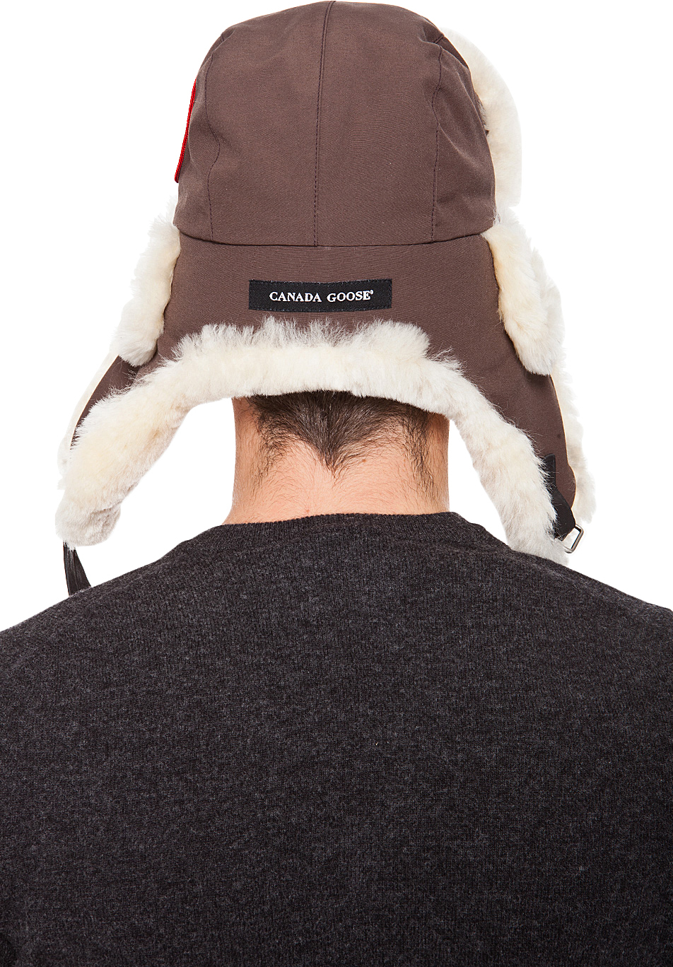 Canada Goose chilliwack parka outlet cheap - Canada goose Brown Shearling Aviator Hat in Brown for Men | Lyst
