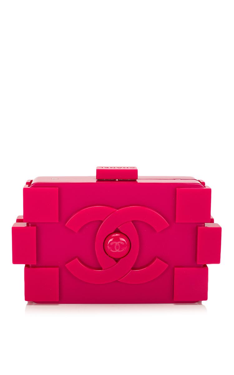 Madison avenue couture Chanel Fuchsia Pink Lego Clutch Boy ...