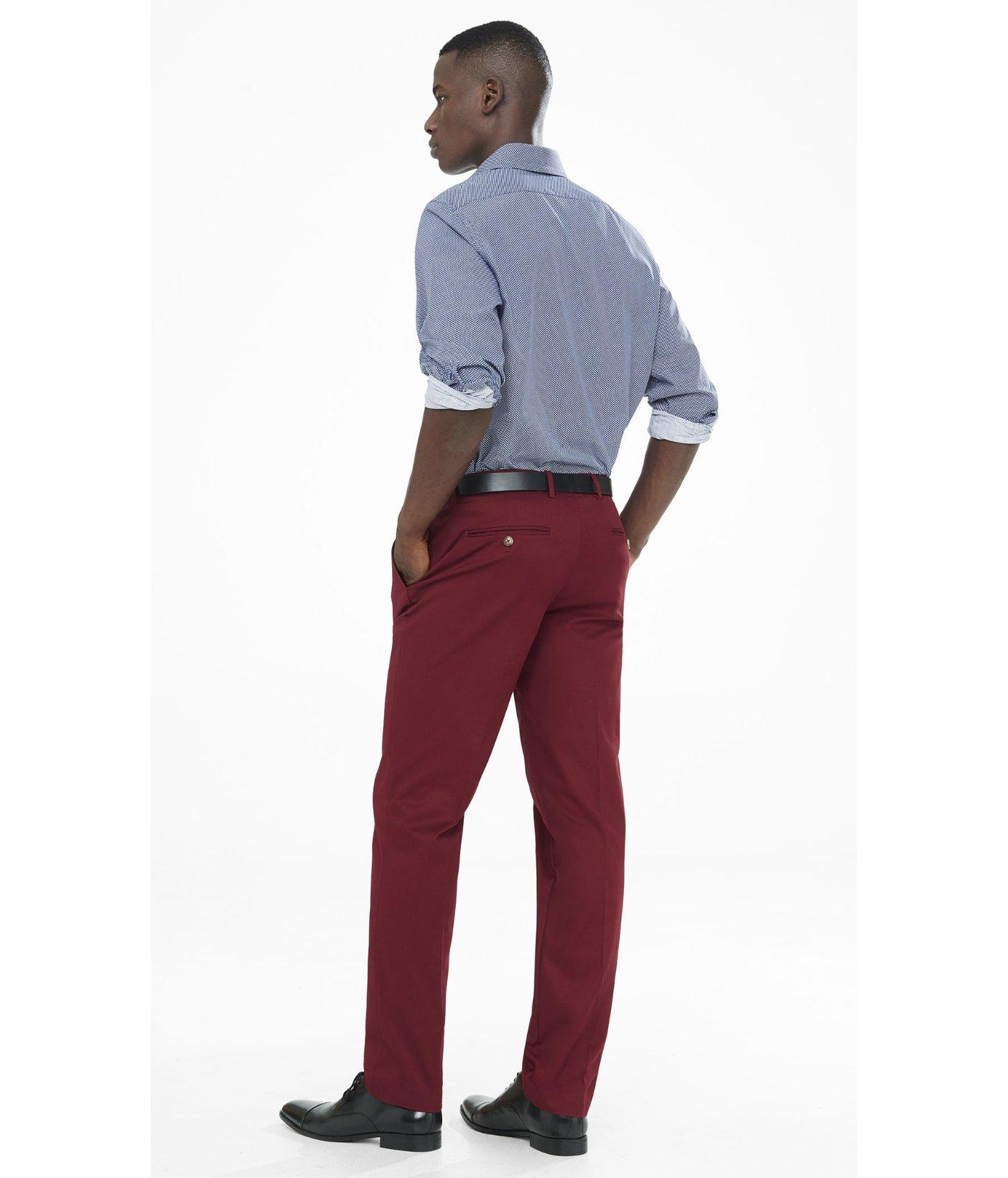 mens red dress pants - Pi Pants
