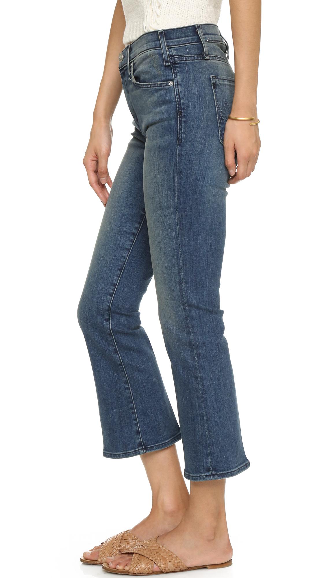 lyst mcguire denim cropped majorelle flare jeans in blue. Black Bedroom Furniture Sets. Home Design Ideas