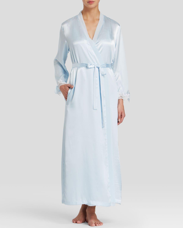 Oscar de la renta Tying The Knot Robe in Blue (Something Blue)  Lyst