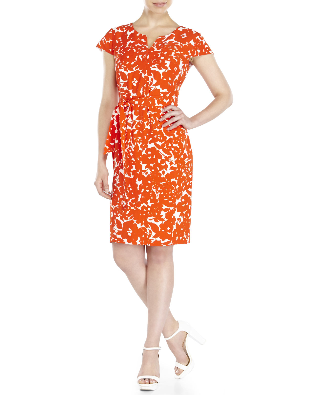 jones new york floral sheath dress