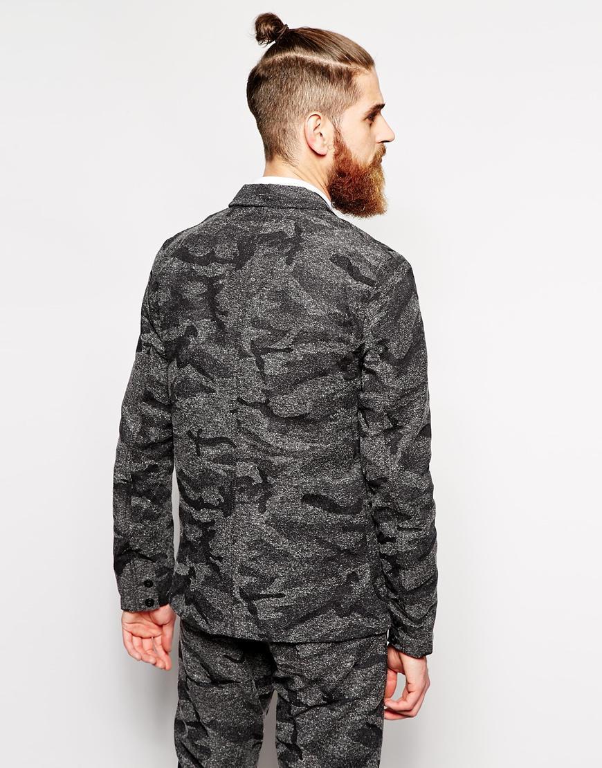 Lyst Edwin Simple Post Blazer Slim Fit Japanese Camo In