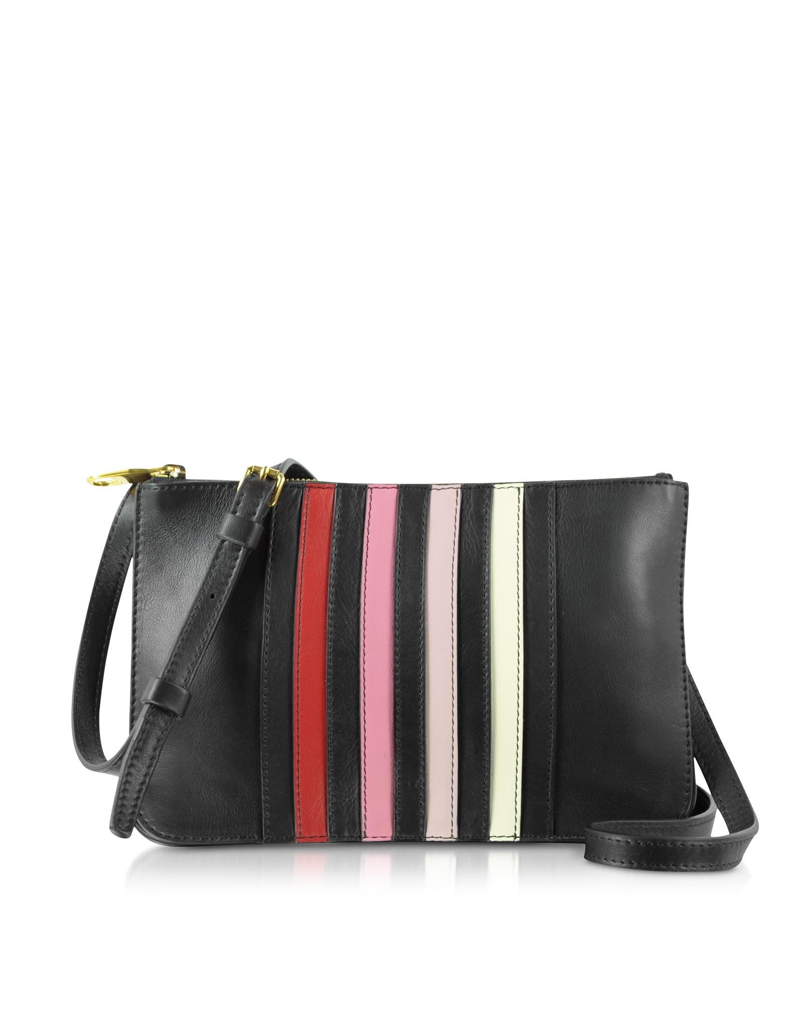 Rykiel Leather Lucien Sonia Crossbody Striped Lyst Bag Black 5w1fvRnxq