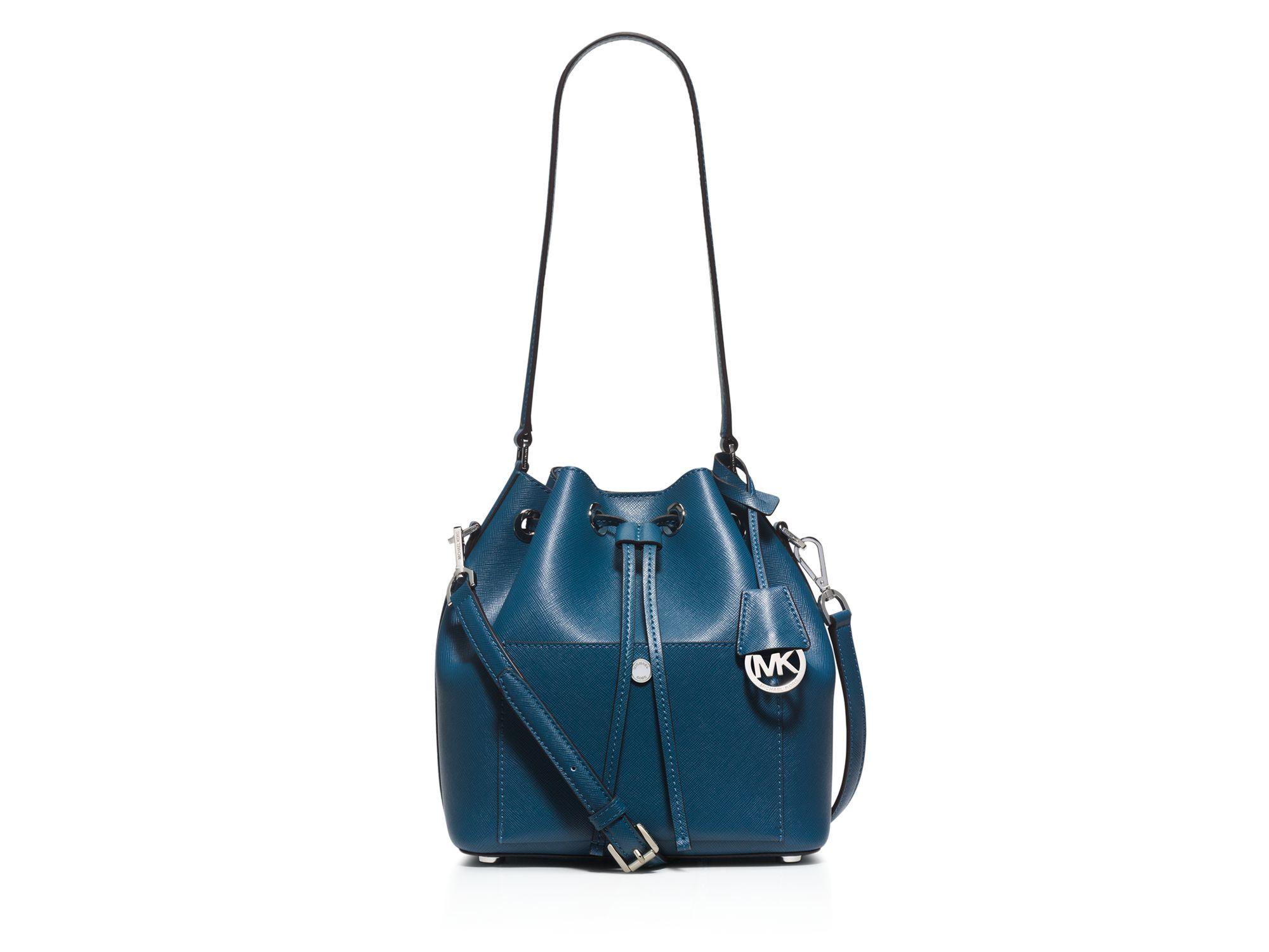 michael michael kors greenwich medium bucket bag in blue lyst. Black Bedroom Furniture Sets. Home Design Ideas