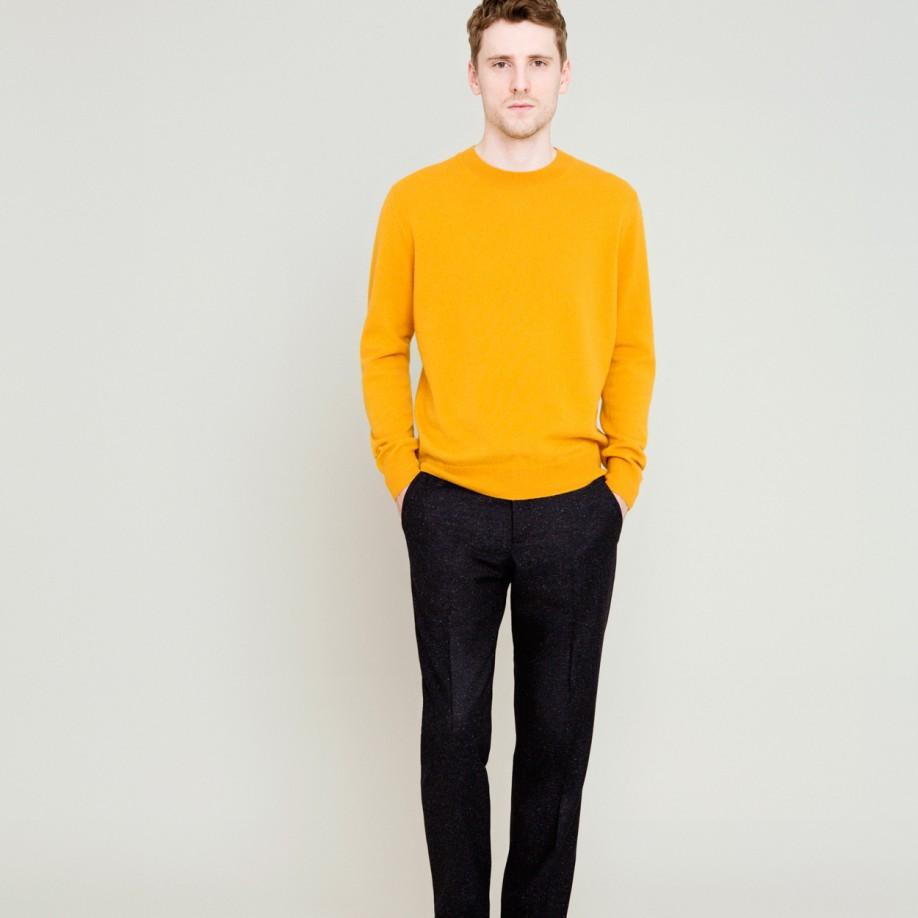 Paul smith Mustard Yellow Cashmere Sweater in Orange for Men | Lyst