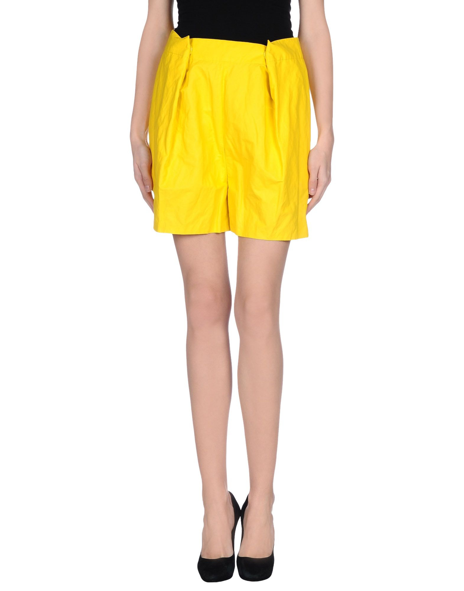 acne knee length skirt in yellow save 48 lyst