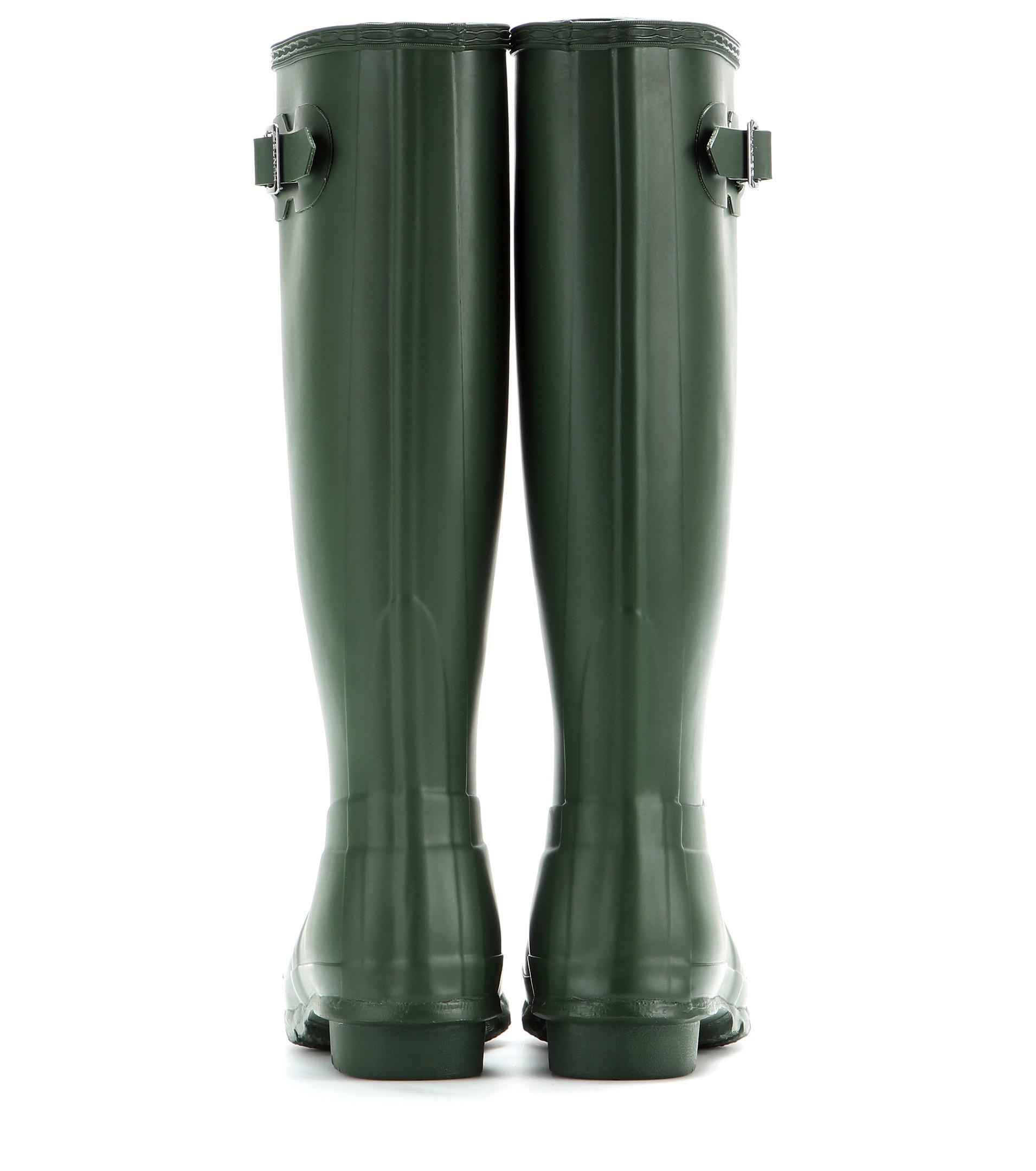 HUNTER Original Tall Rain Boots in Green