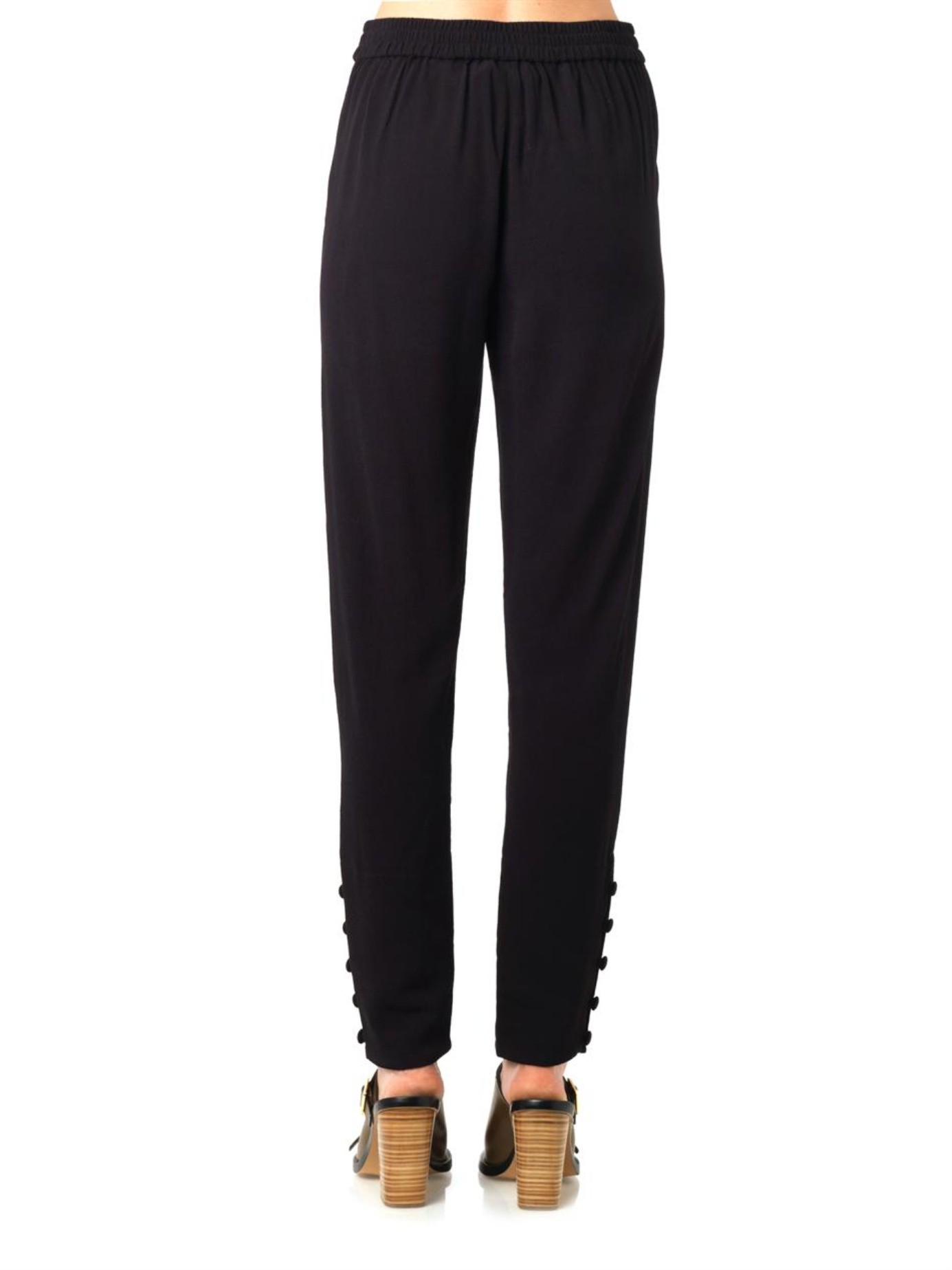 Tapered crêpe trousers See By Chloé