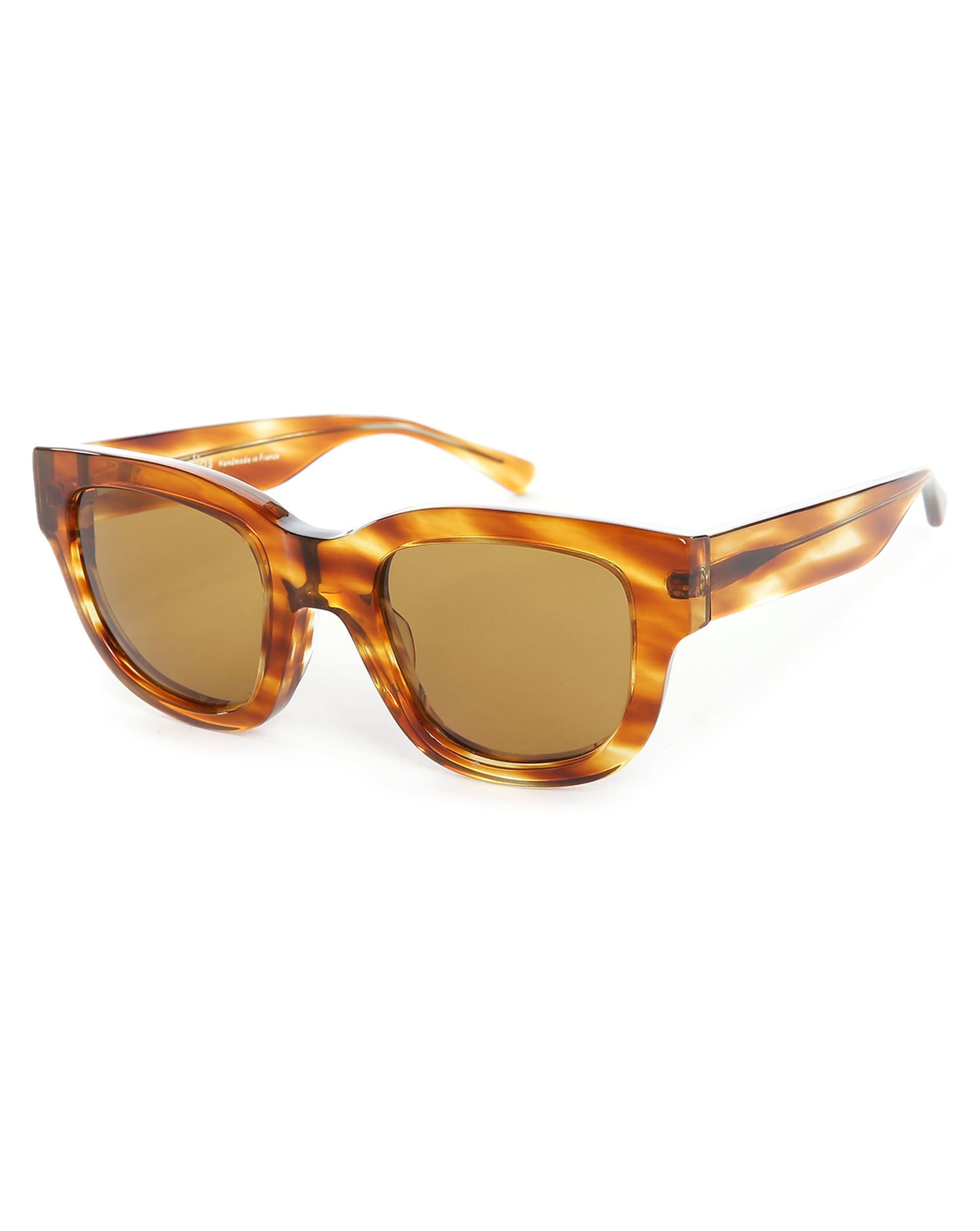 acne turtle frame sunglasses in brown for lyst