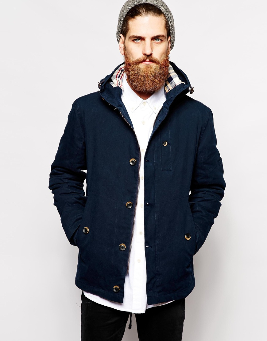 Parka london Hudson Jacket in Blue for Men | Lyst