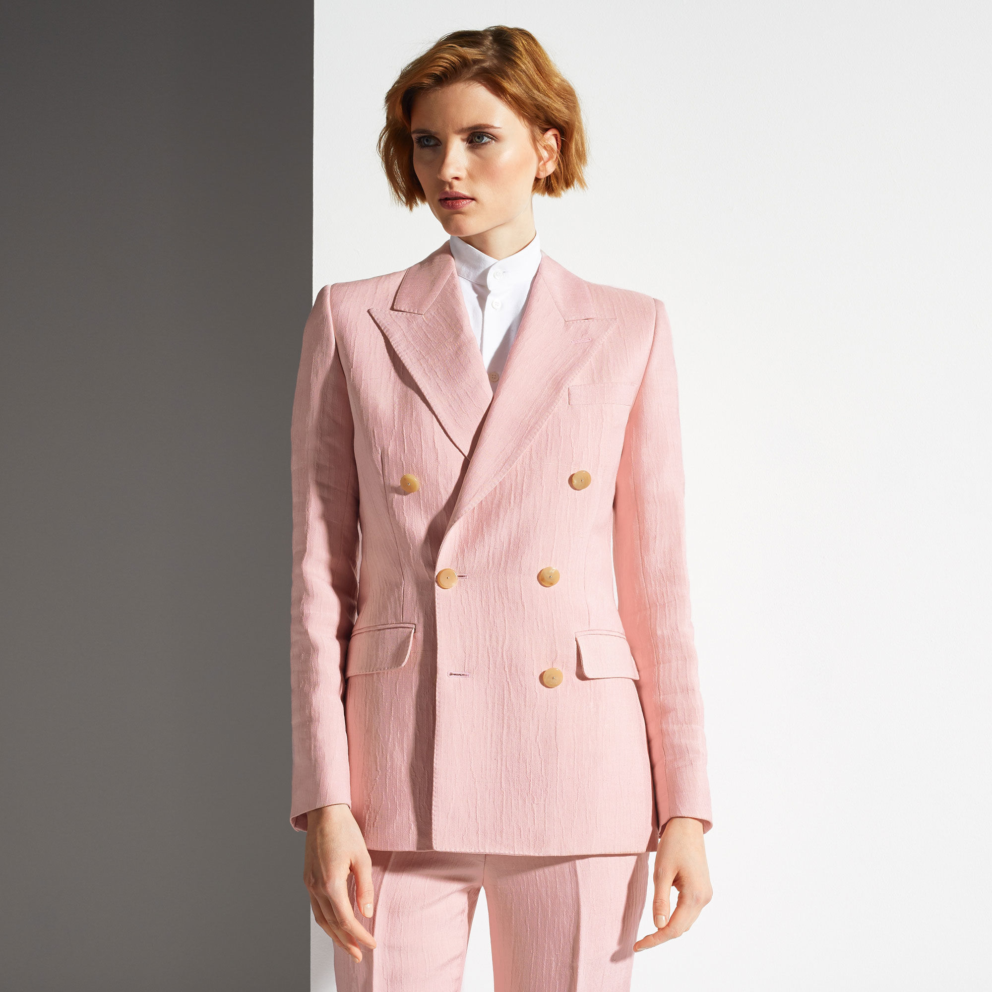 Bally Double Breasted Blazer In Pink Lyst