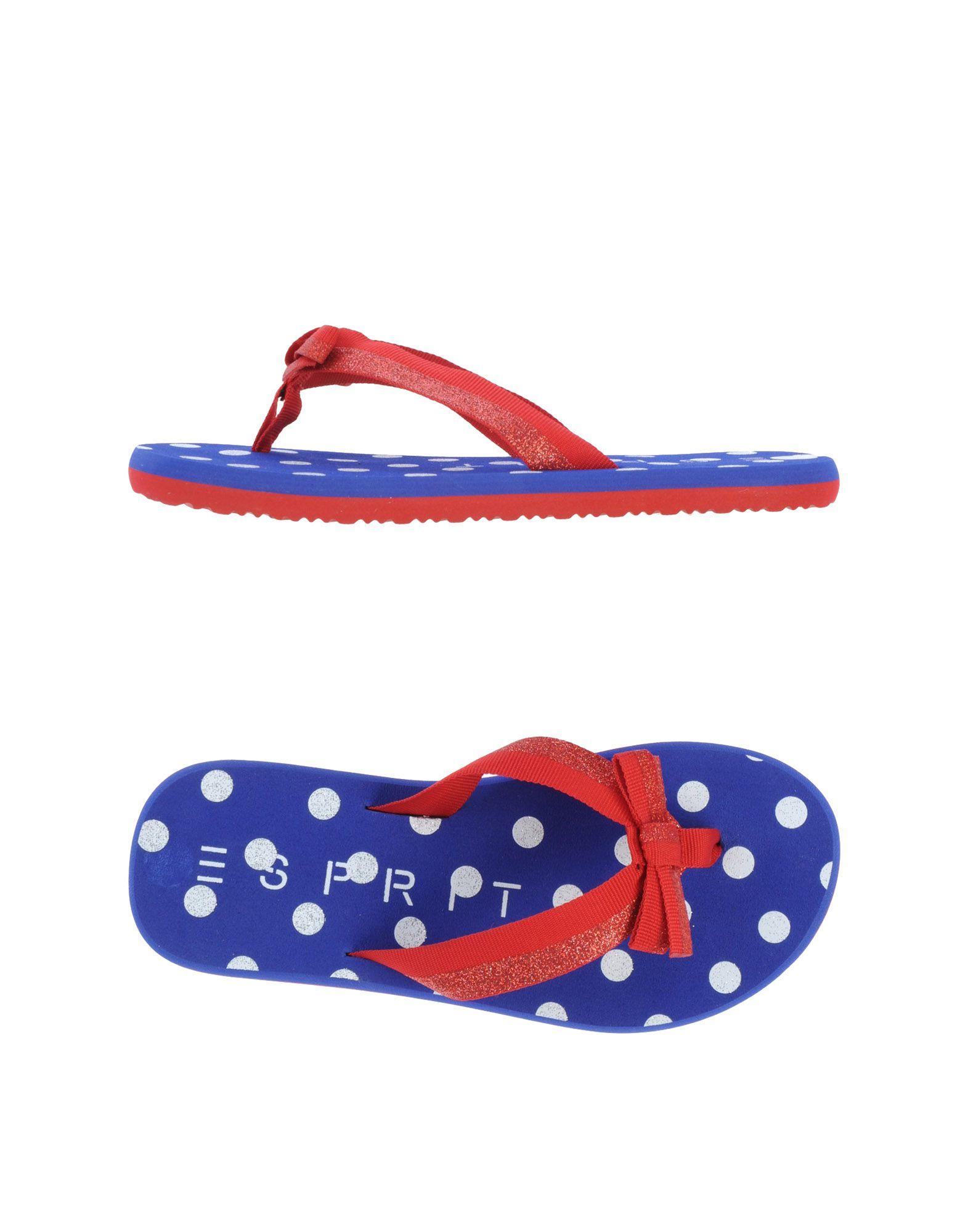 esprit flip flops clog sandals in red lyst. Black Bedroom Furniture Sets. Home Design Ideas