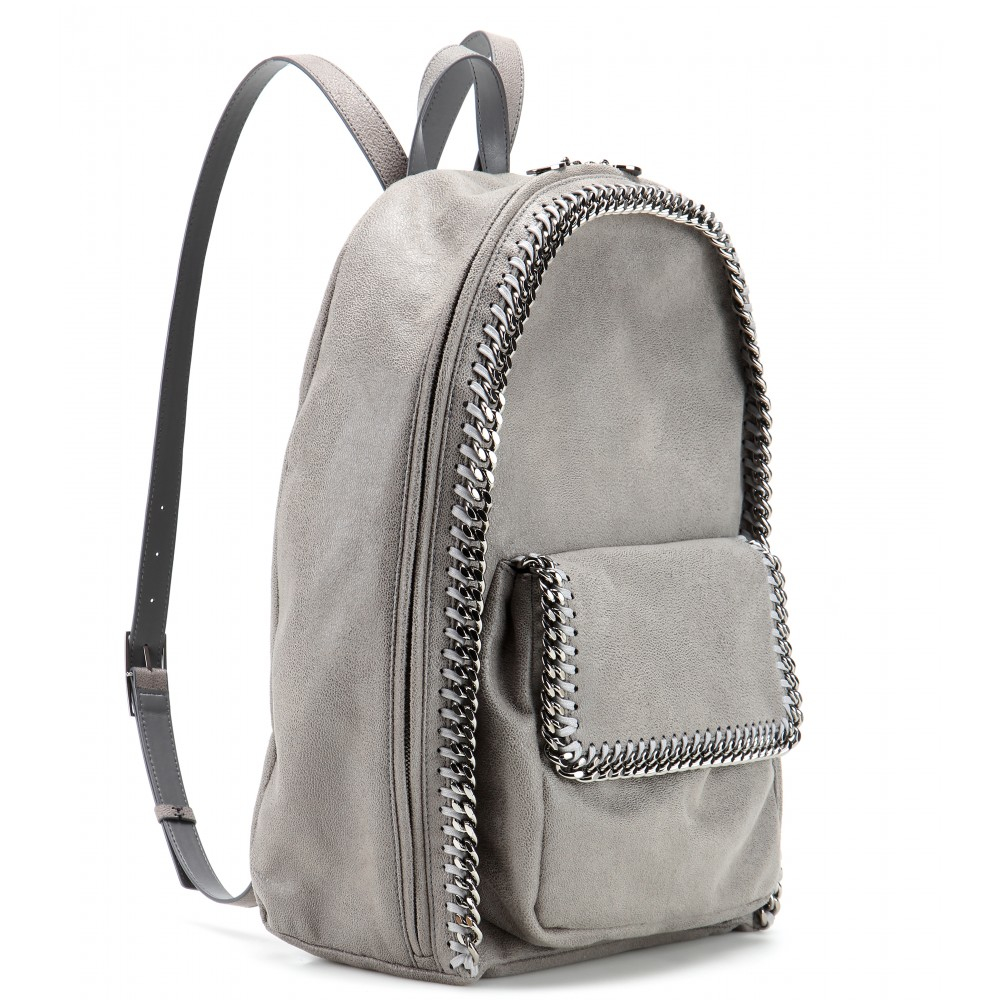 Stella McCartney Falabella Faux Suede Backpack in Grey