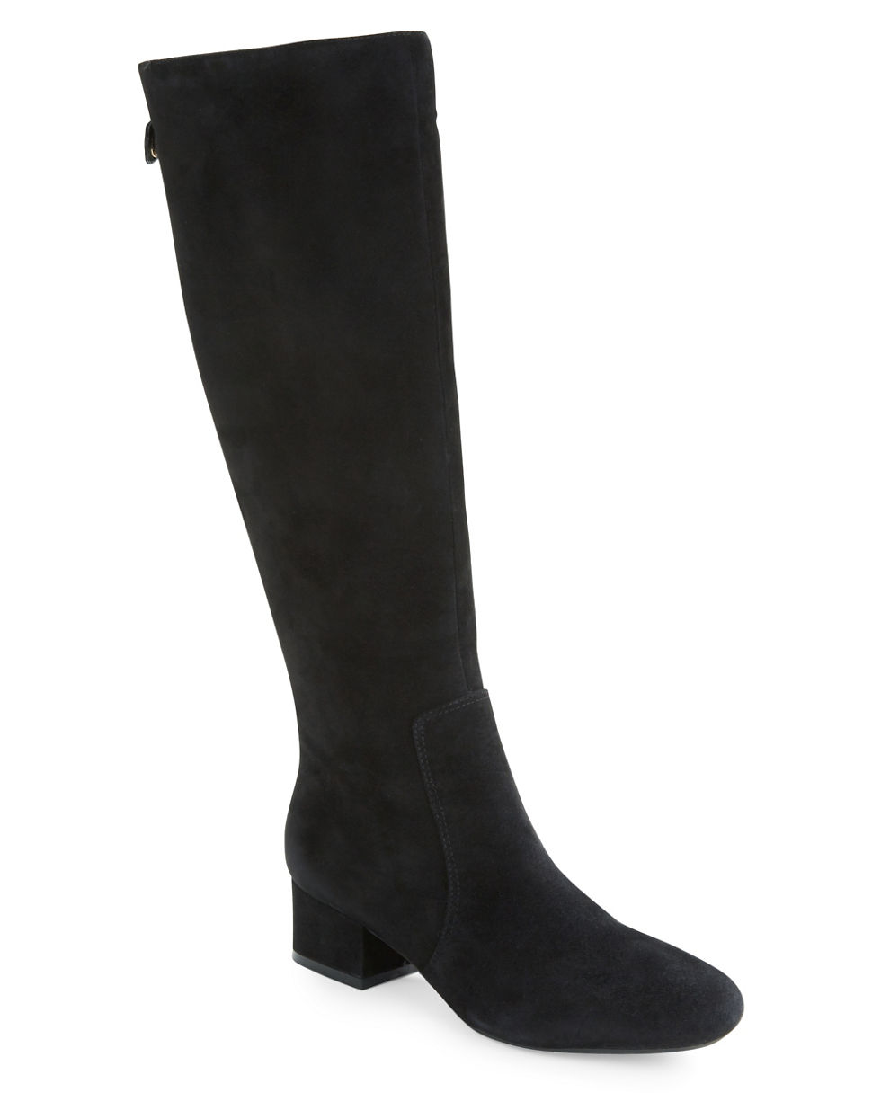 klein camden suede knee high boots in black lyst