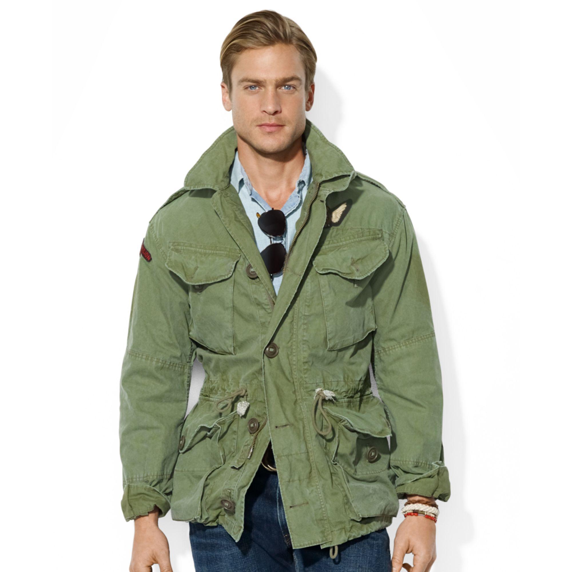 Ralph Lauren Polo Eaglecrest Combat Jacket In Green For
