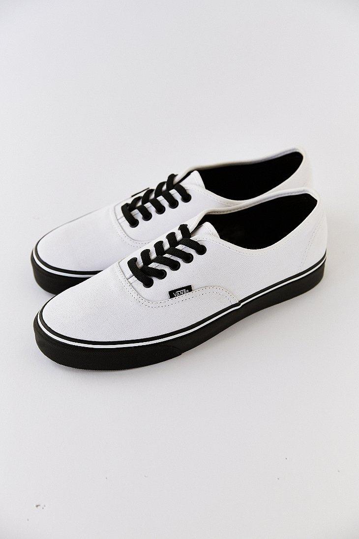 Vans White Authentic Black Sole Men'S Sneaker for men