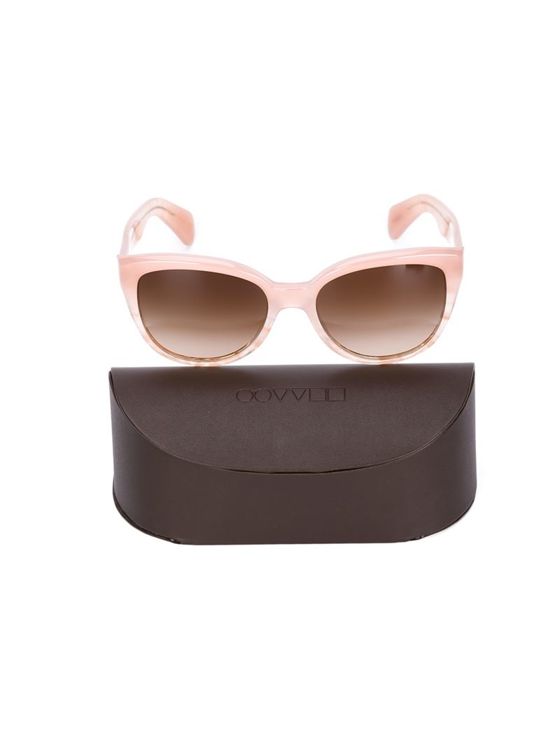 Oliver Peoples 'Abrie' Sunglasses in Pink & Purple (Pink)