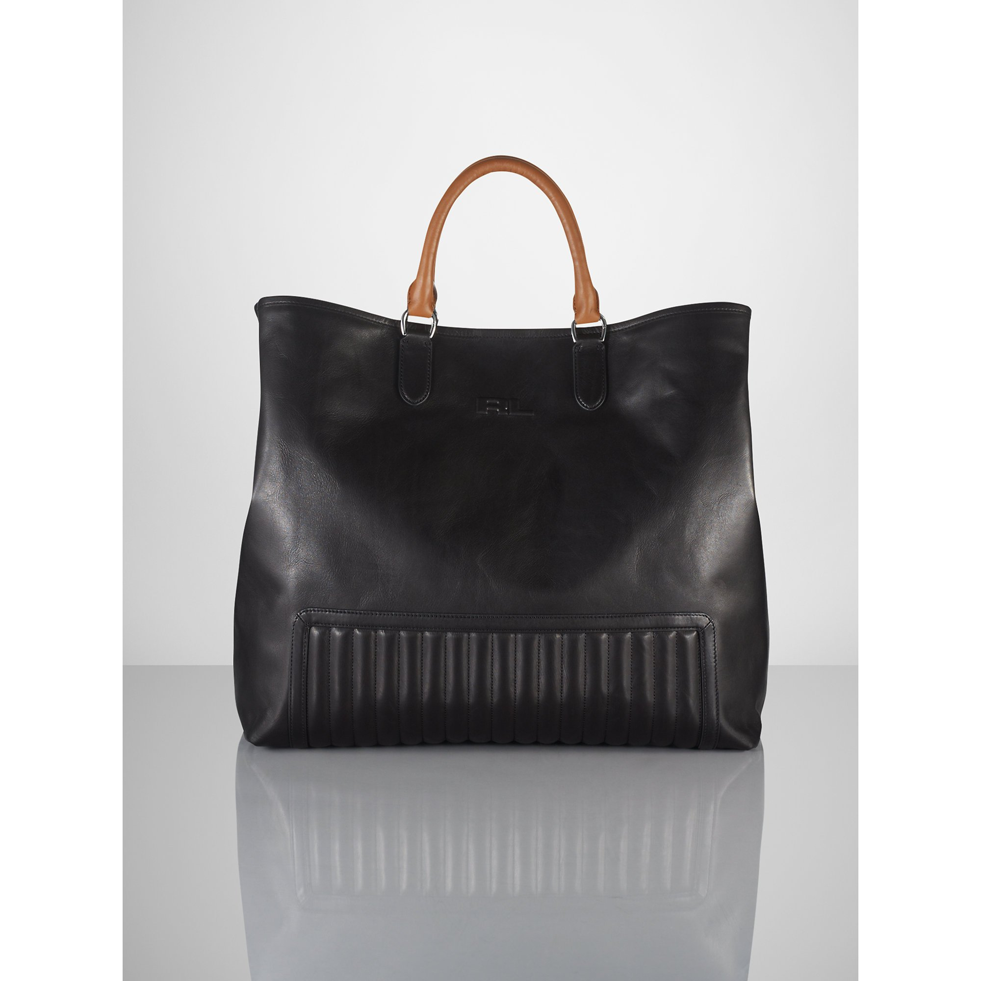 Ralph Lauren Tote Laukku : Ralph lauren quilted tote in black for men lyst