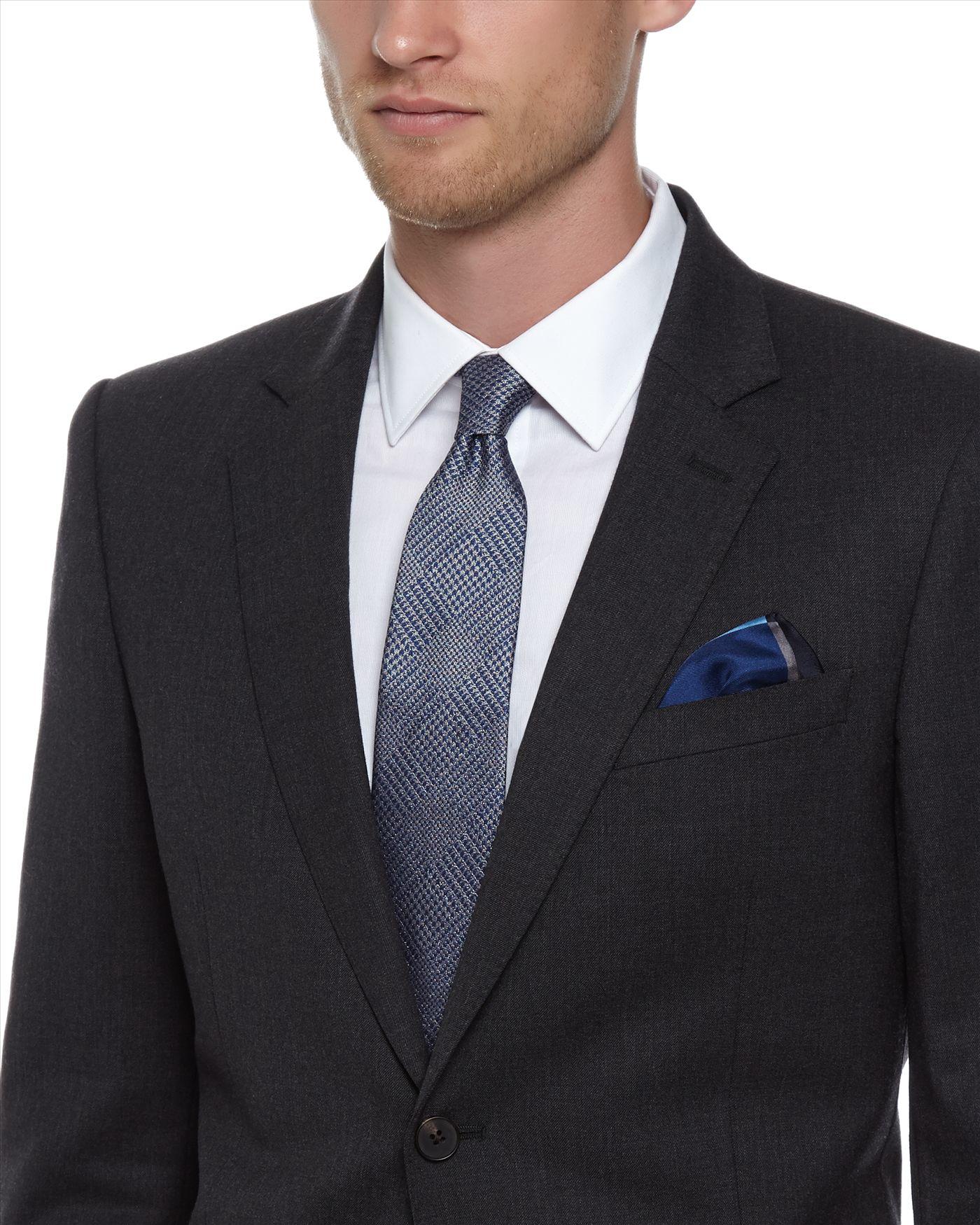 lyst jaeger silk glen check tie in blue for men. Black Bedroom Furniture Sets. Home Design Ideas