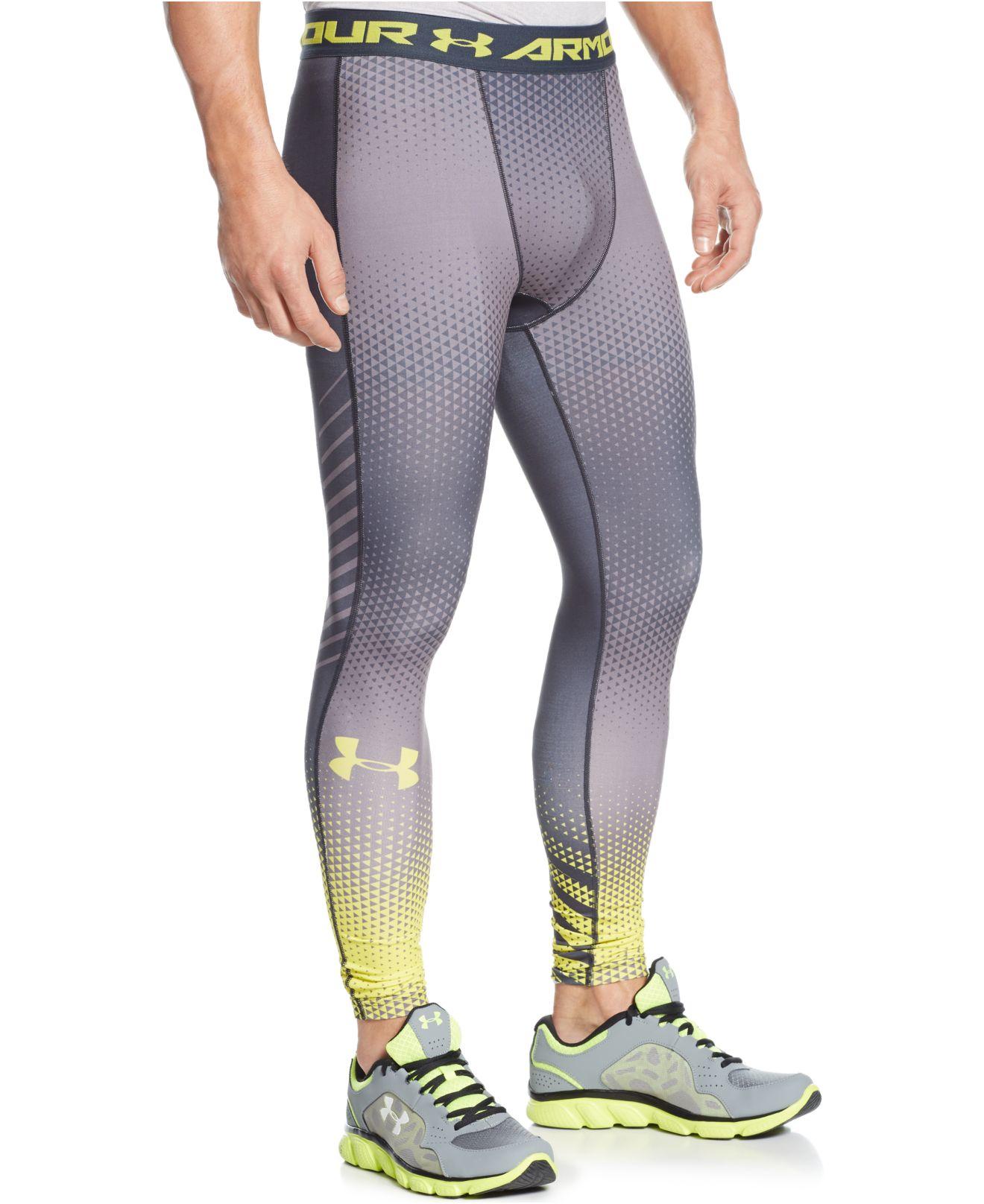c88cbbb9c4ccb Under Armour Exo Heatgear Compression Leggings in Gray for Men - Lyst